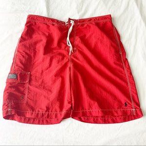 Men's XL Ralph Lauren Red Kailua Board Shorts